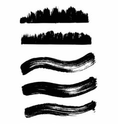 collection of wave ink elements vector image vector image