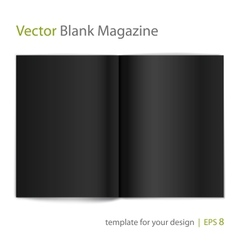 Open black page magazine vector image