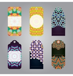 Set of gift sale tags with geometric elements vector image vector image