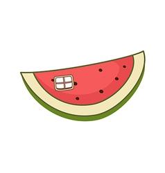 A piece of watermelon vector