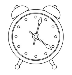 Alarm clock icon outline style vector