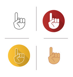 Attention hand gesture icon vector