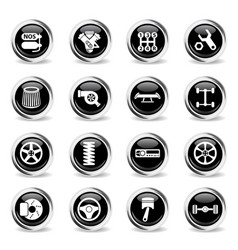 Auto tuning icon set vector