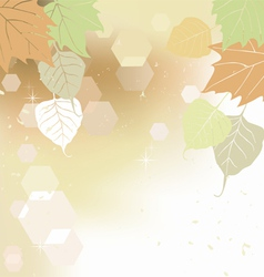 Autumn leaves - background vector image