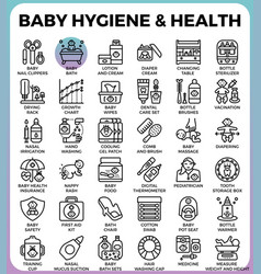 Baby hygiene and health vector
