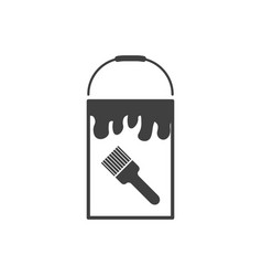 bank icon with paint on white background vector image