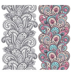Beautiful Indian paisley ornaments vector
