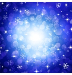blue snowflakes vector image vector image
