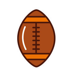 brightly american football ball cartoon vector image