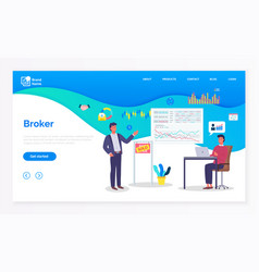 broker finance or contract technology buyer deal vector image