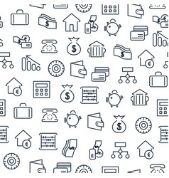 Business financial seamless pattern vector