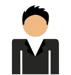 Businessman standing isolated icon design vector