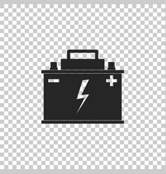 car battery icon on transparent background vector image