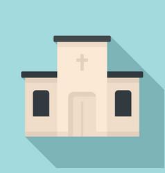 catholic church icon flat style vector image