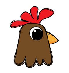 chicken head vector image