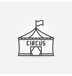 Circus linear icon vector
