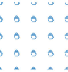 Coffee icon pattern seamless white background vector