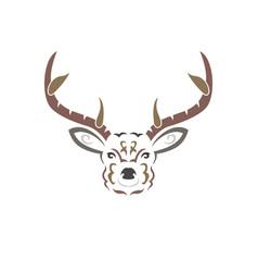 Color tribal deer vector