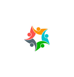 Communicative people and care logo vector