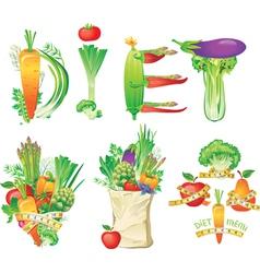 Diet menu concept vector