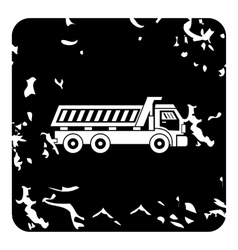 Dump truck icon grunge style vector image