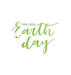 Earth day motivational card vector