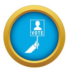 Election politician poster icon blue vector