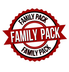 Family pack label or sticker vector