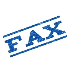 Fax Watermark Stamp vector image