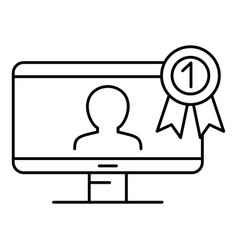first conference person icon outline style vector image