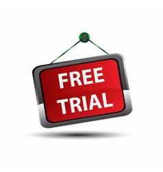 Free trial label icon vector