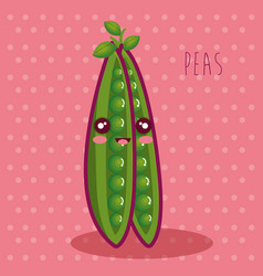 Fresh peas vegetable character vector