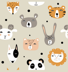 funny hand drawn animals vector image