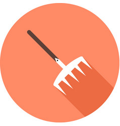 Garden rake grass icon image can also be vector