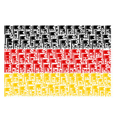 German flag pattern of flag icons vector