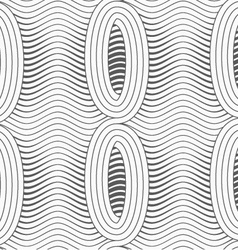 Gray merging ovals with wavy continues lines vector
