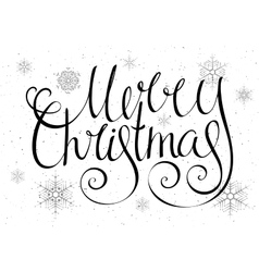 Handdrawn calligraphic inscription merry christmas vector