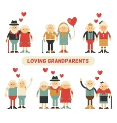 Happy grandparents day vector