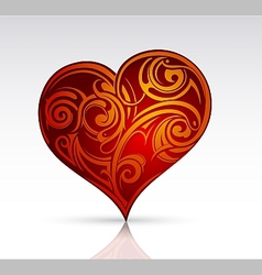 Heart shape ornament as design element vector image
