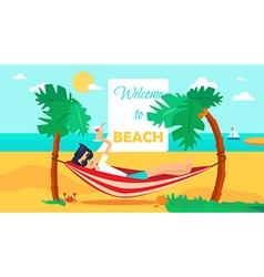 Hello Summer Concept vector image