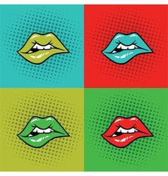Hot Lips Pop Art vector image