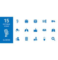 illness icons vector image