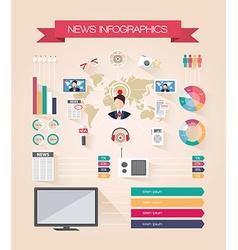 Infographics live news vector image
