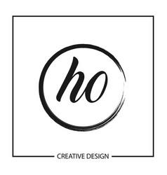 Initial letter ho logo template design vector