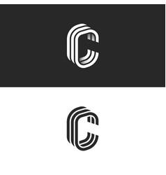 isometric c letter logo mockup modern trendy vector image