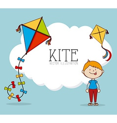 Kite design over blue background vector