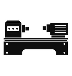 lathe machine icon simple style vector image
