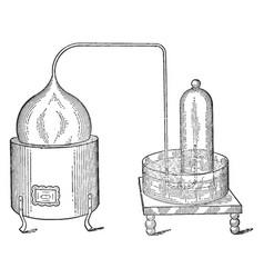 Lavoisiers apparatus vintage vector