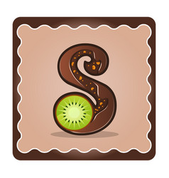 Letter s candies vector
