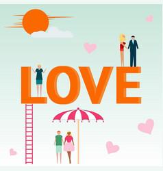love concept inscription couple in love vector image